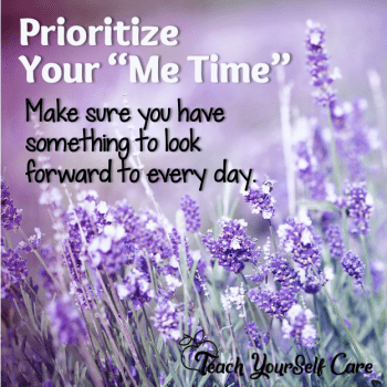 Prioritize Your Me Time