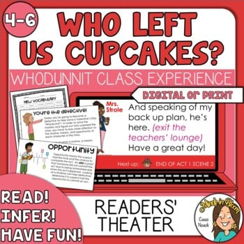 Who left us cupcakes whodunnit mystery readers theater